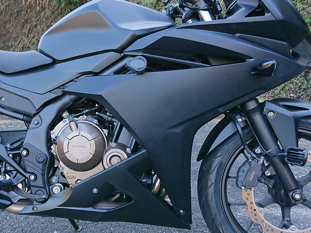 フルカウルバイク-CBR400R-マットブラック全塗装-ビフォーアフター画像02