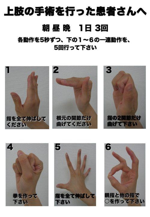 手首骨折リハビリ方法